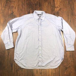 Burberry London blue button up shirt